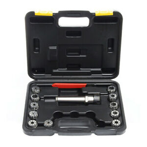 11 in 1 Durable Portable Wear resistant Milling Morse Taper Lathe Chuck Tool Set