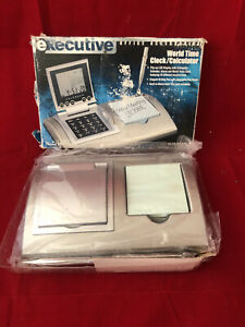 Executive Desk Set With Clock memo Pad pen And Calculator