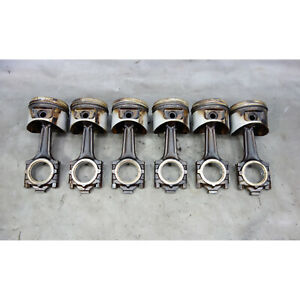 1989 1993 Bmw E34 535i 3 5l 6 cyl Piston And Connecting Rod Set Of 6 Oem