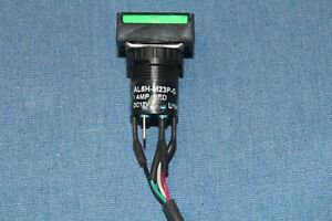 1 Idec 12vdc Green Led Dpdt Push Button Switch Al6h m23p g