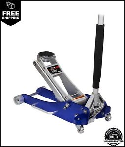 Arcan 2 Ton Quick Rise Aluminum Floor Jack With Dual Pump Pistons Reinforced