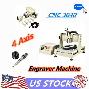 4axis Cnc 3040t Router Engraver Engraving Drilling Milling Machine Water cooling