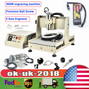 4 Axis 800w Cnc 3040t Engraver Machine Cnc Metal Router Milling Cutting Rc Usa
