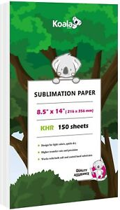 Koala 150 Sheets 8 5x14 Dye Sublimation Ink Heat Transfer Paper Cotton Poly Mugs
