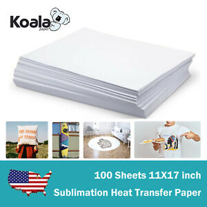 Koala 100 Sheets 11x17 Dye Sublimation Heat Transfer Paper Mug Polyester Fabrics