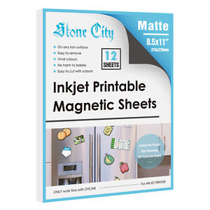 12 Printable Magnetic Sheets 8 5 X 11 Flexible Non Adhesive 12mil For Inkjet