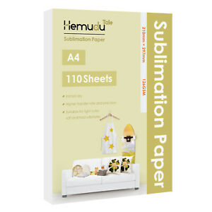 110 Sheets A4 Dye Sublimation Ink Heat Transfer Paper Cotton Poly Mugs Fabrics