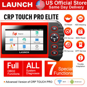 Launch X431 Full System Scanner Obd2 Code Reader Crp Touch Pro Elite Wifi Update