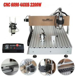 Cnc Router 6090 4axis 2 2kw Usb Port Milling Engraving Diy Cnc Cutting Machine