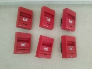Lot Of 6 Edwards est 276b 1110 Fire Alarm Pull Stations