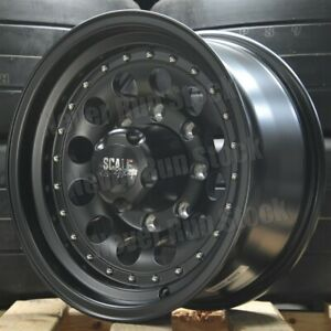 Rebel Racing Bandit Ii 16x8 8x6 5 0 Offset Matte Black Silver Rivet Truck Wheels