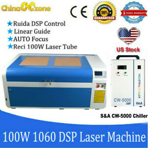 Ruida Reci 100w Co2 Laser Engraver Cutting Machine 600 1000mm cw3000 Chiller Us