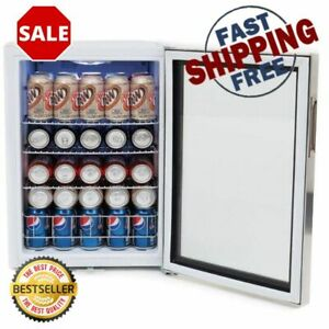 19 Inch 12 Oz 90 Can Cooler Stainless Steel Beverage Refrigerator With Lock