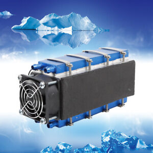 8 Chip Tec1 12706 Diy Thermoelectric Cooler Refrigeration Air Cooling 12v 576w