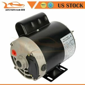 Air Compressor Electric Motor 1 Hp 56 Frame 3450 Rpm 2 Pole Single Phase Ccw