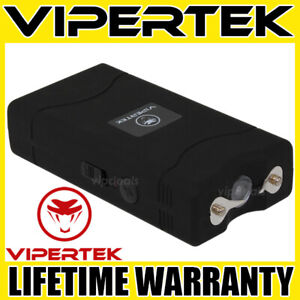 Vipertek Stun Gun Mini Black Vts 880 335 Bv Rechargeable Led Flashlight