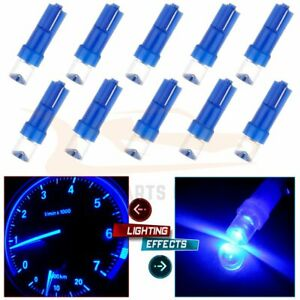 10x Blue T5 58 74 Instrument Cluster Panel Gauge Dash Led Bulbs Lights For Ford
