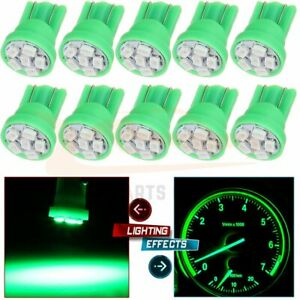10x For Chevy Led Green Instrument Dash Indicator Light Bulbs T10 194 168 2825