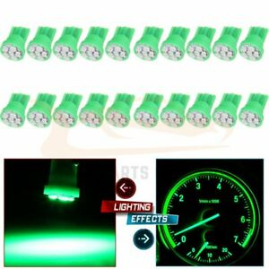 20x Green 6 3020 smd Led Instrument Dash Gauge Light Bulbs T10 194 2825 168 158