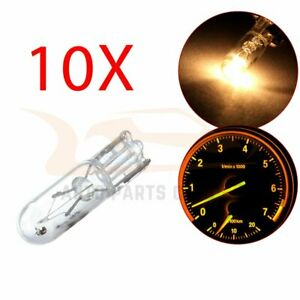 10x Wedge Warm White T5 37 70 73 74 Dashboard Cluster Halogen Mini Bulb Light