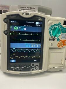 Philips Mrx M3535a aed pacing Ecg sp02 nibp etc02 Biomed Certified