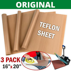 3 Pack Teflon Transfer Sheets For Heat Press Ptfe Non Stick Reusable Craft Paper