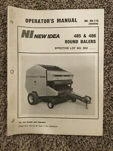 New Idea 485 486 Round Balers Operators Manual Rb 115 986809