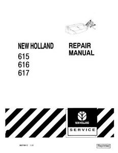New Holland 615 616 617 Disc Mower Service Manual