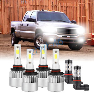 For Gmc Sierra 1500 2500 Hd 2001 2002 2005 2006 Led Headlight Fog Light Bulbs