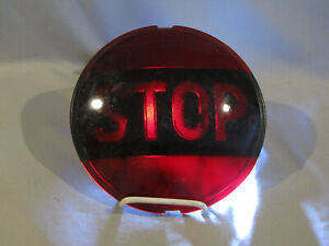 Vintage Dark Red Glass Tail Light Stop Lense Grote 6 3 4