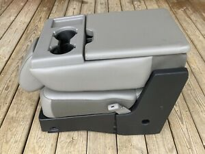 2015 16 17 18 19 Ford F250 F350 Gray Center Console Vinyl Cloth Jump Seat