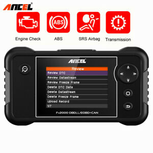 Car Abs Airbag Auto Code Reader Engine Transmission Scan Diagnostic Obd2 Scanner