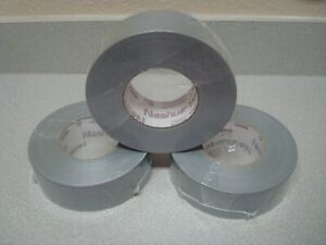 Lot Of 3 Rolls Nashua 398 48mm X 55m All weather Hvac Duct Tape Silver 11mm