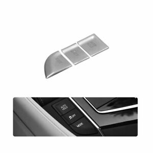 Fit For Cadillac Ct6 2016 2020 Dx Electronic Handbrake Decoration 3pcs Silver