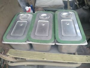 Cambro Upcs180 Stainless Pans Lids And Seals 3 Militaary Mess Hall Cook Out
