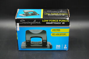 Swingline Low Force 2 hole Punch Smartouch 20 Jam Free 20 Sheet Capacity