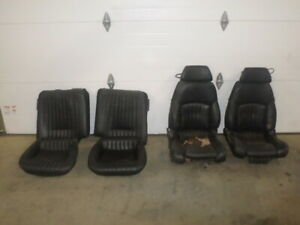 88 Trans Am Gta Black Leather Power Lumbar Seats Set 87 89 Firebird Air Bladder
