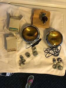 Vintage Model H1 Fog Lights Unity Mfg Co Made In Chicago Usa
