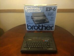 Portable Brother Electronic Typewriter Model Ep 6 W box Tested