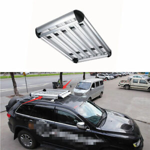 For 2011 2020 Jeep Grand Cherokee Silver Aluminum Top Roof Cargo Rack Cross Bars