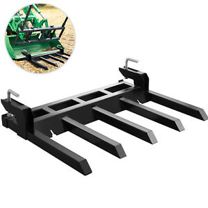 48 Clamp Debris Forks Tractor Skid Steer Loader Bucket Pallet Forks Heavy Steel