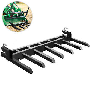 72 Clamp Debris Forks Tractor Skid Steer Loader Bucket Pallet Forks Heavy Steel