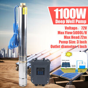 3 Dc Deep Well Solar Water Pump 72v 1100w Submersible Mppt Controller Kit Bore