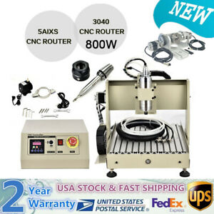 5 Axis 800w Cnc 3040 Router Engraver Wood Metal Drilling milling Machine Cutter
