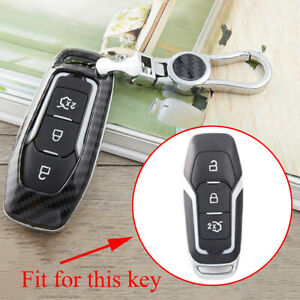 Key Fob Bag Case Chain Cover For Ford Focus Mustang F150 Edge Carbon Fiber Parts