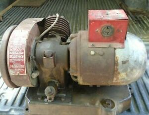 Vintage Red Top Gas o electric Plant Generator manufactured Prior To 1950