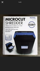 Royal Micro Cut Paper Shredder Heavy Duty 8 Sheet 805m Micro Confetti Cut