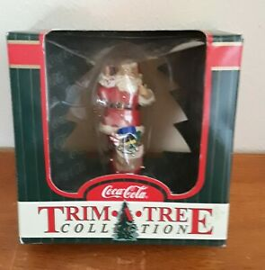 1998 Coca Cola Trim a Tree Collection Christmas Ornament Santa with his Toy Sack