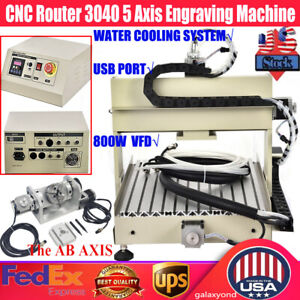 Usb 5axis 3040 Cnc Router Engraver Milling Machine Steel Copper Cutter 800w Vfd