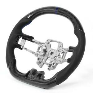 Carbon Fiber Steering Wheel Preforated Leather For Ford Mustang Ecoboost Gt Gt35